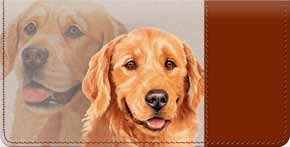 golden retreiver checkbook cover