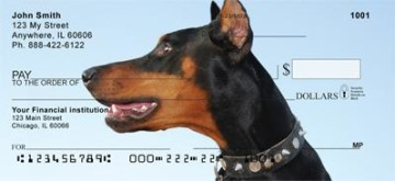 Smiling Dobermans